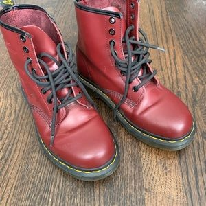 Red Airwair 1460 Dr. Martens Size US 6